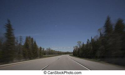 4K Hyperlapse time lapse highway