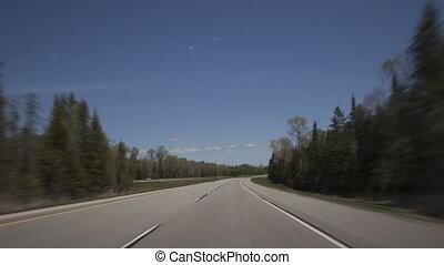 4K Hyperlapse time lapse highway zoom