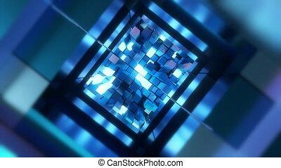 4K Inside view of an advanced AI CPU. Seamless loop.