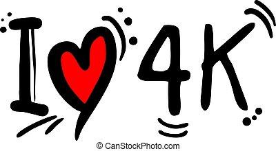 4k, liebe, nachricht