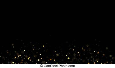 4K Loop Amazing animated blink sparkles video frame on black background. stars for websites, titles, presentation and labels for wedding and love story. Corner frame and border with copy space