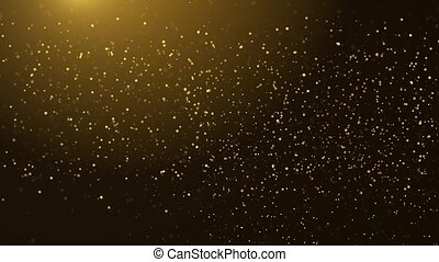 4K Loop animation of falling gold particles Background.