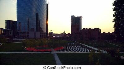 4k, luchtmening, cityscape, moderne