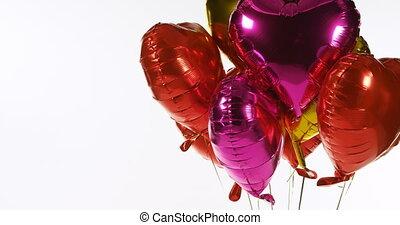 4k, luftballone, luft, multicoloured, schwimmend