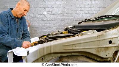 4k, mécanicien, réparation, moteur voiture