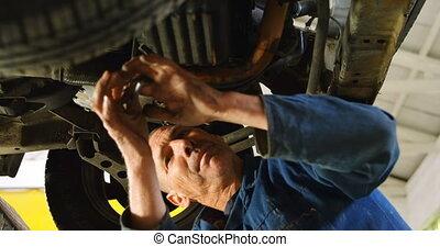 4k, mécanicien, réparation, voiture