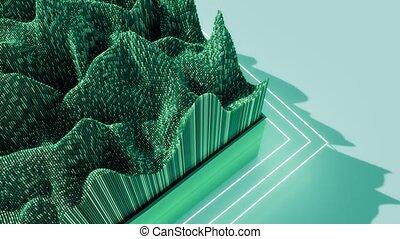 4K Minimalist cubic design. Seamless loop