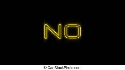 4k, néon, emerger, panneau affichage, jaune, non
