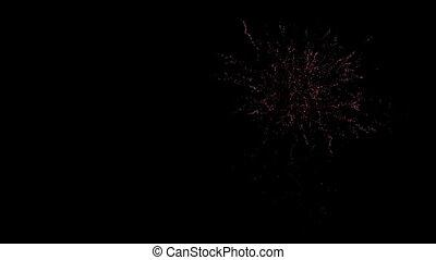 4k, nacht, textanzeige, firework