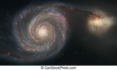 4K NASA Cinemagraph Collection - M51 Whirlpool Galaxy with...
