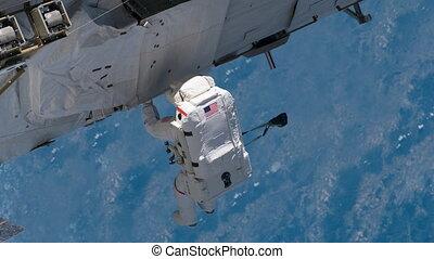 4K NASA Cinemagraph Collection - Spacewalk with EVA....