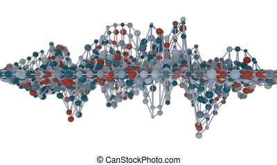 4K Network Molecule Mesh.