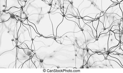 4K Neuronal Activity. 3D CGI animation