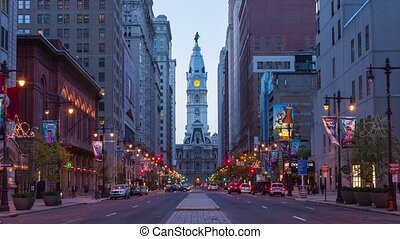4K night timelapse of Philadelphia