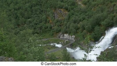 4K, Norway, Epic and huge waterfall - Nature Of Norway,...