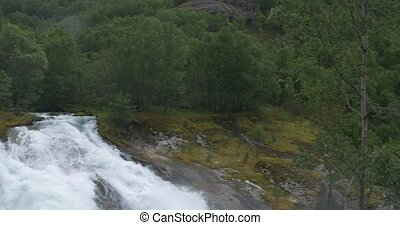 4K, Norway, Epic and huge waterfall - Nature Of Norway, ...