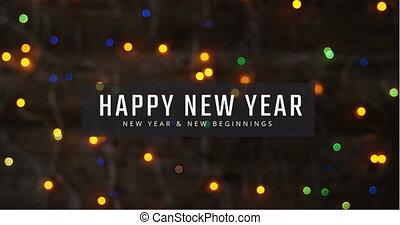 4k, nowy rok, migotanie, światła, wróżka, wigilia