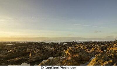 4K Pan Sunset Atlantic Ocean view - 4K Pan Time lapse Sunset...