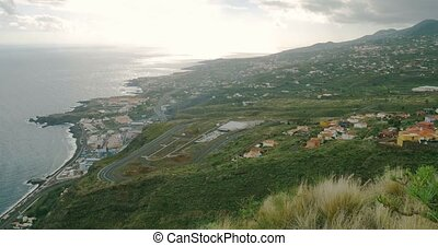 4K, Panned view over Los Cancajos - Panned view over Los...