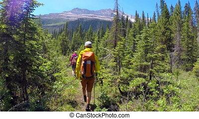 4k, para, góra, hiking