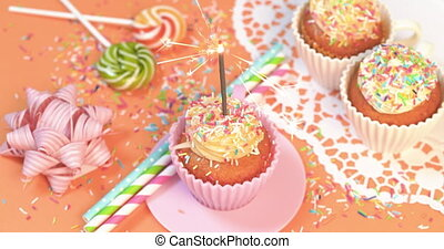4K - Party with holiday cupcakes