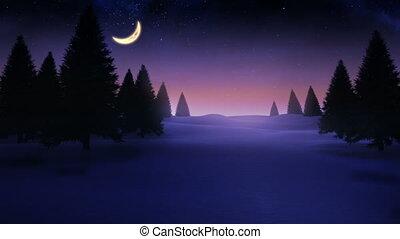 4k, paysage, dépassement, rayon, sur, lumière, neigeux