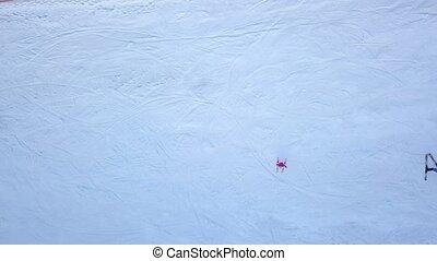 4k, plat, 240fps, uhd, ski, 2160p., gens, bas, vidéo, slope.