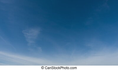4k qualitative time lapse of beautiful sky, clouds fly away,...