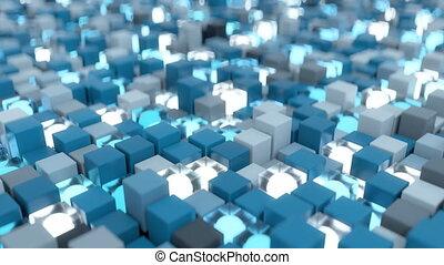 4K Quantum Computing Concept. Seamless Loop