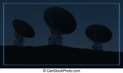 4K Radio Telescopes in Sync. (Elements furnished by NASA.)...