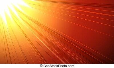4k, rayon soleil, généré digitalement, vidéo
