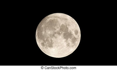 4K - Real full moon movement