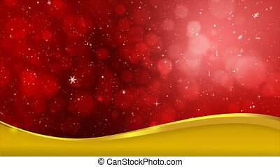 4K red abstract abstract background with snow flake and blur...