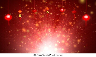 4K Red abstract background for Chinese New Year Background