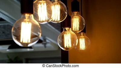 4k, restaurant, pendre, lumières