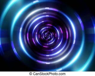 4K ring blue tunnel