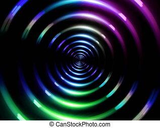 4K ring lens flare fast color