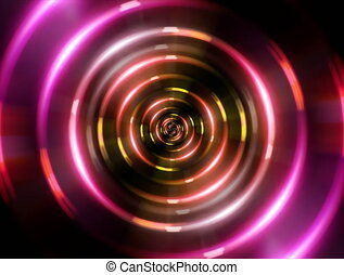 4K ring red tunnel