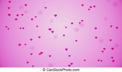 4K Rising up and Falling Hearts Loop Animation Background Green Screen. For love valentine, romantic, Christmas, luxury, success, celebration, holidays, gifts, event, Festival, Award concept.