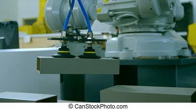 4k, robotique, machine, entrepôt