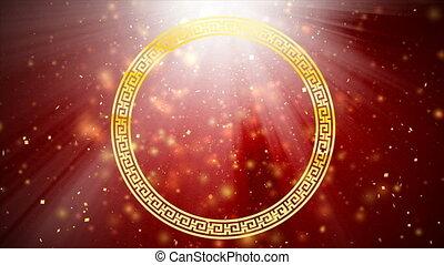 4k, rouges, résumé, fond, pour, nouvelle année chinoise,...