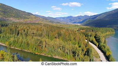 4k, sceniczny, okolica, rzeka, góra