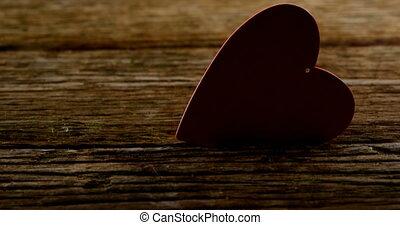 4k, serce, drewniany, czerwony, zebrać, deska