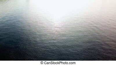 4K shot of the water surface from the dron.