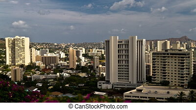4K Skyline Timelapse, Honolulu - 4K time lapse shot at the...