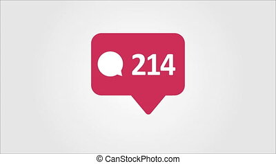 4K social media red Comments Counter, Shows Comments Over...