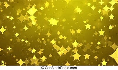 4K Sparkle Shine Light Confetti Dust Golden Particles glitter Loop background