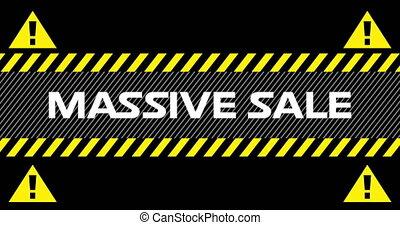 4k, sprzedaż, masywny, wstążki, znaki, przemysłowy, tekst,...