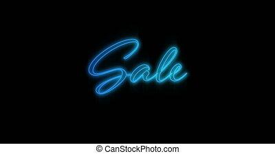 4k, sprzedaż, neon, wynurzanie się, tablica ogłoszeń, ...