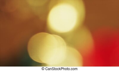 4K Steady Of Focus Circular Bokeh Red and Yellow On Flicker